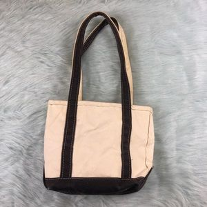 Vintage L.L. Bean Boat and Tote Canvas Bag White